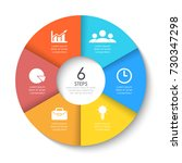 set of round infographic... | Shutterstock .eps vector #730347298
