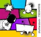 pop art comics book magazine...   Shutterstock .eps vector #730349998