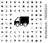 truck icon. set of filled... | Shutterstock .eps vector #730350214