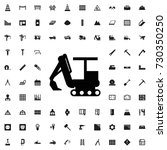 excavator icon. set of filled... | Shutterstock .eps vector #730350250