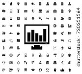 chart on display icon. set of... | Shutterstock .eps vector #730351564