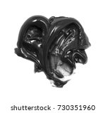 black charcoal toothpaste... | Shutterstock . vector #730351960