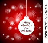 merry christmas and happy new...   Shutterstock .eps vector #730352518
