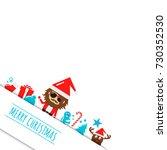 merry christmas background ...   Shutterstock .eps vector #730352530