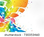 multicolored frame  abstract... | Shutterstock .eps vector #730353460