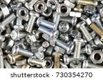 nuts bolts background | Shutterstock . vector #730354270