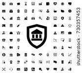 bank insurance icon. set of... | Shutterstock .eps vector #730357453