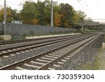train track at rural area | Shutterstock . vector #730359304