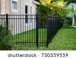 aluminum fence  | Shutterstock . vector #730359559