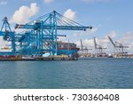 port of rotterdam  the...   Shutterstock . vector #730360408
