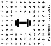 barbell icon. set of filled... | Shutterstock .eps vector #730363150