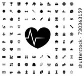 heart rate icon. set of filled... | Shutterstock .eps vector #730363159
