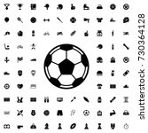 football icon. set of filled... | Shutterstock .eps vector #730364128