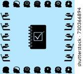 notebook icon  organizer vector ... | Shutterstock .eps vector #730366894