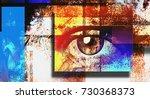 surreal digital art. human's... | Shutterstock . vector #730368373