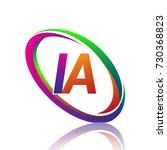 letter ia logotype design for... | Shutterstock .eps vector #730368823