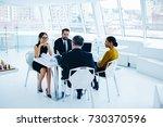 crew of business partners... | Shutterstock . vector #730370596