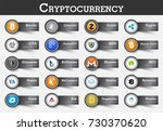 set of cryptocurrency icon and... | Shutterstock .eps vector #730370620