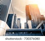modern office building detail ... | Shutterstock . vector #730376080