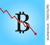 bitcoin drop graph. bitcoin... | Shutterstock .eps vector #730376290