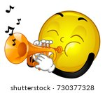 illustration of a smiley mascot ...   Shutterstock .eps vector #730377328
