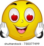illustration of a smiley mascot ... | Shutterstock .eps vector #730377499