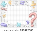 background illustration of math ... | Shutterstock .eps vector #730379383