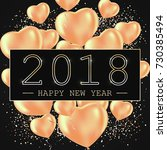 happy new year 2018 greeting... | Shutterstock .eps vector #730385494