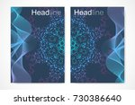 scientific brochure design... | Shutterstock .eps vector #730386640