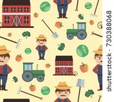 farm agriculture seamless... | Shutterstock .eps vector #730388068