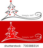christmas tree   hand drawn | Shutterstock .eps vector #730388314