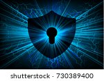 safety concept  closed padlock... | Shutterstock .eps vector #730389400