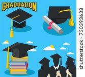 graduations with blue...   Shutterstock .eps vector #730393633