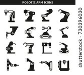robotic arm in manufacturing... | Shutterstock .eps vector #730396030