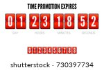promotions expires  analog flip ... | Shutterstock .eps vector #730397734