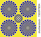 colorful optical illusion the... | Shutterstock . vector #730397854