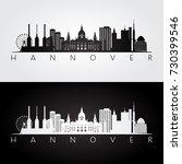 hannover skyline and landmarks... | Shutterstock .eps vector #730399546