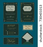 wedding invitation design...   Shutterstock .eps vector #730401013