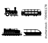 vector isolated trains... | Shutterstock .eps vector #730401178