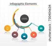 modern business timeline... | Shutterstock .eps vector #730404634