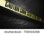 crime scene tape with a grungy... | Shutterstock . vector #730410208