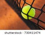 tennis ball hitting the tennis...   Shutterstock . vector #730411474