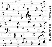 music notes  seamless | Shutterstock .eps vector #73041211