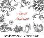 autumn illustration  sketch  ... | Shutterstock .eps vector #730417534