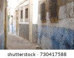 street of medina in essaouira ... | Shutterstock . vector #730417588