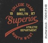 vintage superior american nyc... | Shutterstock .eps vector #730419148