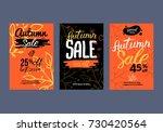 autumn sale background template.... | Shutterstock .eps vector #730420564