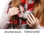 autumnal outfit concept. young... | Shutterstock . vector #730421050