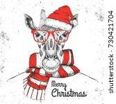 christmas hipster fashion... | Shutterstock .eps vector #730421704