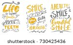 life  is short. smile  while... | Shutterstock .eps vector #730425436